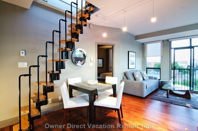 Dining & Staircase to the Private Rooftop Deck