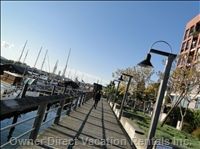 Strolling the Mermaid Wharf Boardwalk