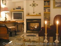 Two Gas Fireplaces and Quality Furnishings Provide Comfort