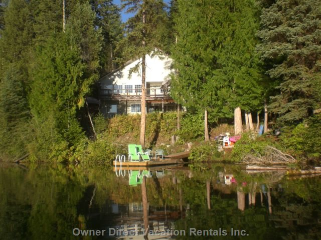 A View of the House from the Lake - Update Needed to Show New much Larger Dock!