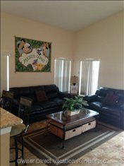 Family Room - Family Room with Comfortable Seating and Large 42 Flat Screen Tv