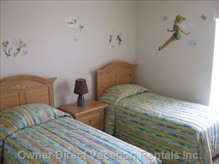 Tinkerbell Bedroom - Great Tinkerbell for Kids, 2 Twin Beds.