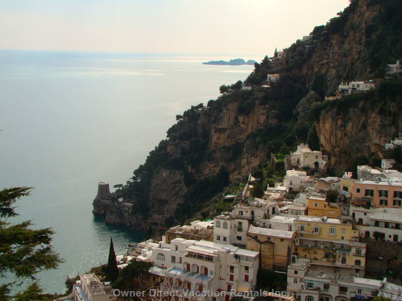 View of Positano from the Apartment
