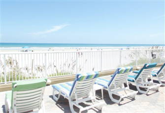 White Sands and Blue Waves Beckon at our Beautiful, Ocean-Front Daytona Resort.