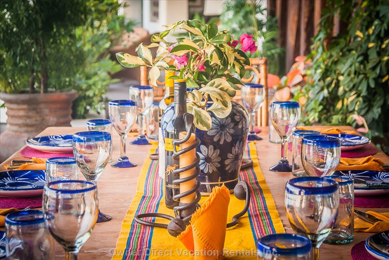 Villa is decorated with the best from Mexican culture
