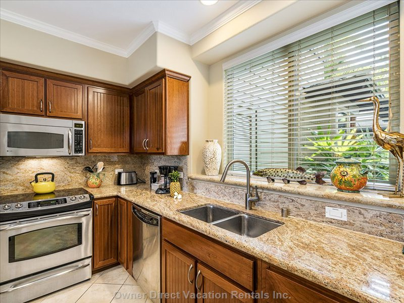 Beautiful Kitchen with Granite Counter Tops