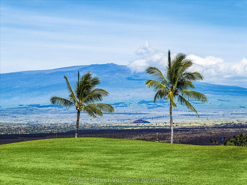 Outstanding View of the Two Prominent Mountains--Mauna Kea and Mauna Loa.