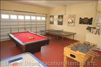 Games Area - Have some Fun and Games with our Pool Table, Air Hockey, Foozball, Ping Pong and Electronic Darts