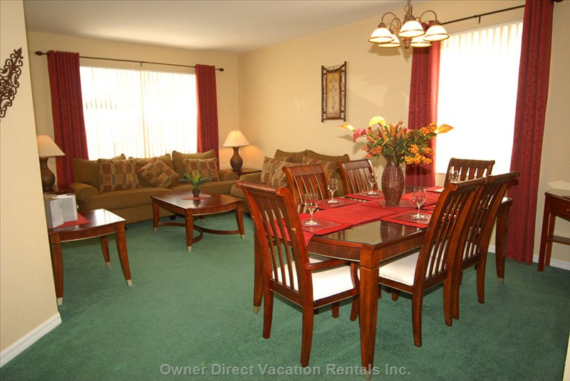 Formal Living and Dining Area - Relax after a Day at the Parks