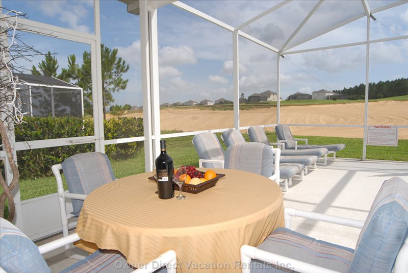 Pool Deck and Golf View - Chill out with a Glass of Wine