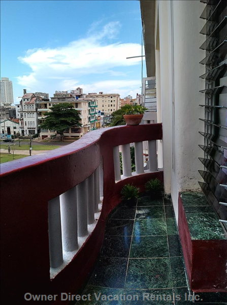 The View from the Balcony to Avenue Paseo