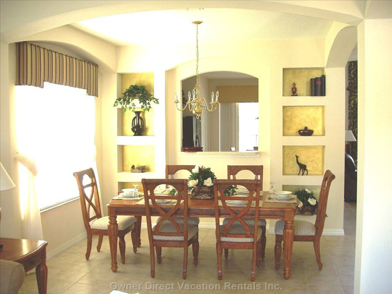 Dining Room with Space for 8 to 10