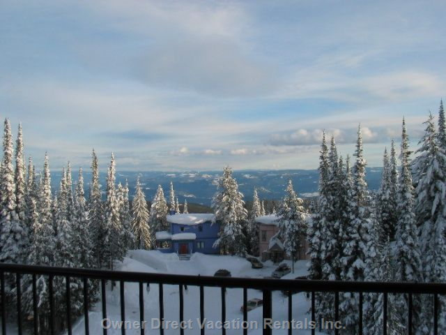 View of Monashees from Deck