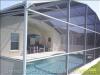 The Pool is Fully Enclosed with Covered Lanai