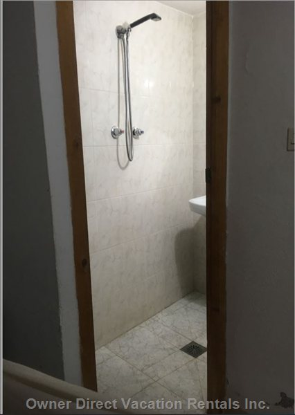 The Walk-in Shower, in the New Bathroom, Conveniently Situated Next to the First Living Room, on the Ground Floor.
