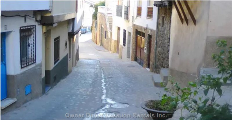 Calle El Barrio, the Sun Bathing the Cobblestones, the Swallows Waking the Morning Up...In our Street. Enjoy it all from your Balcony