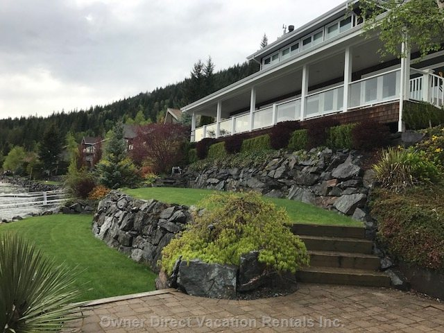 Spectacular 4 Bedroom Home with 110 Feet of Water Front Property