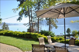 Southwest View of Okanagan Lake - View from Private Patio in Front of Suite
