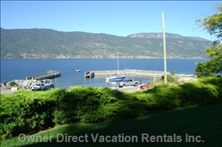 One Minute Walk to Beach and Boat Launch - the South/West Views Offer Beautiful Evening Sunsets on your Private Patio
