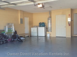 2 Car Private Garage with Free Use of Washer/Dryer