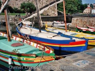 Typical Local Boats as Seen at the Nearby Lagoons of Bages, Collioure,  Beloved by the Famous Artists