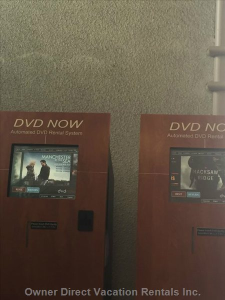 Dvd Rentals in the Lobby Player in the Unit