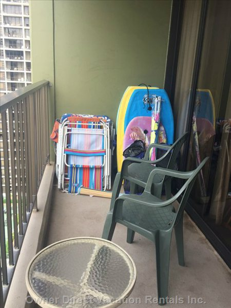 Boogie Boards and Beach Chairs
