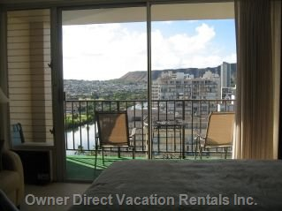 View of Diamond Head from inside Condo