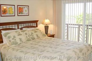 The Master Bedroom has a Lanai for your Personal Use.