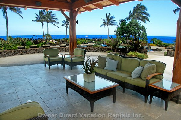 Relax in Gazebo Area at Ocean Club