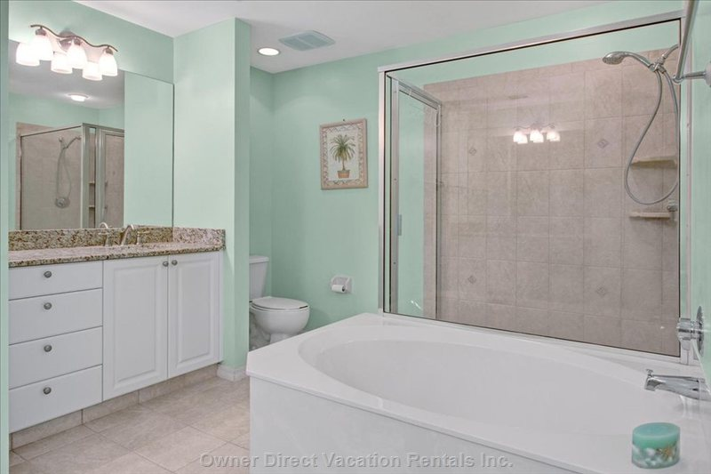 Master Bath Includes, Soaking Tub, Shower, 2 Sinks and Vanities...The Bathroom to is Huge!