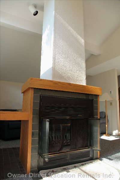 Double Sided Fireplace