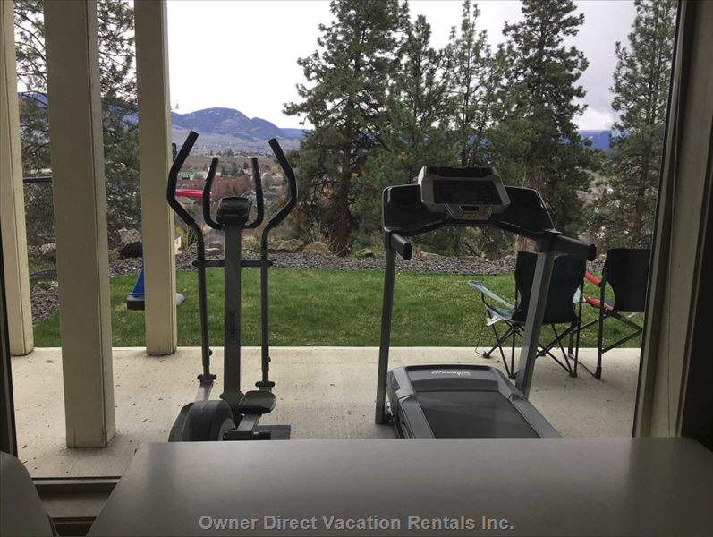 Exercise Equipment on Patio