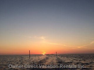Amazing Sunsets off Bayport and Pine Island Only Minutes Away.