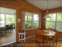 Dining and Door to Screened Porch