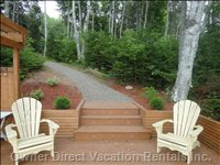 Path from Water Side Deck to Cottage