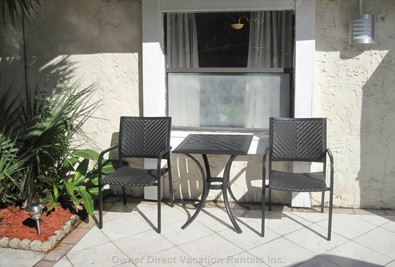 Front Patio with Morning Sun