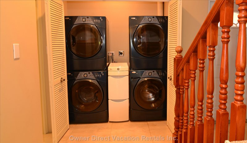 Double Washer and Dryers. Spend no Time Doing Laundry!