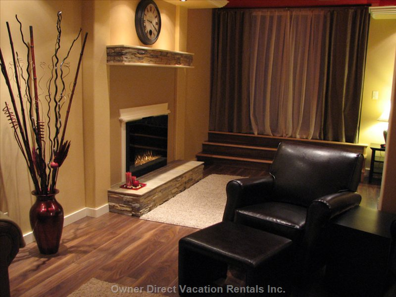 Fireplace for those Romantic Nights...a Picture Window/Sliding Door that Serves as an Entrance to TH