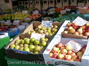 Extensive Fresh Fruit and Vegetables to be Had at the Local Market.