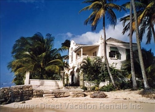 View of the Villa from the Quiet Sandy Beach