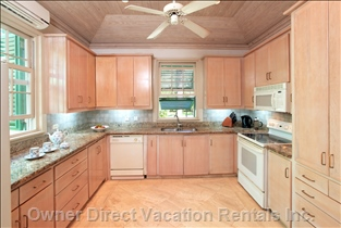 Caprice has a Fully Equipped Kitchen - Rental Includes Housekeeper/Cook along with a Maid/Laundress