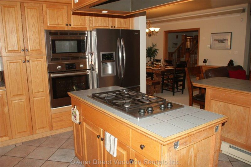 Kitchen with Stainless Steel Appliances and Gas Stovetop