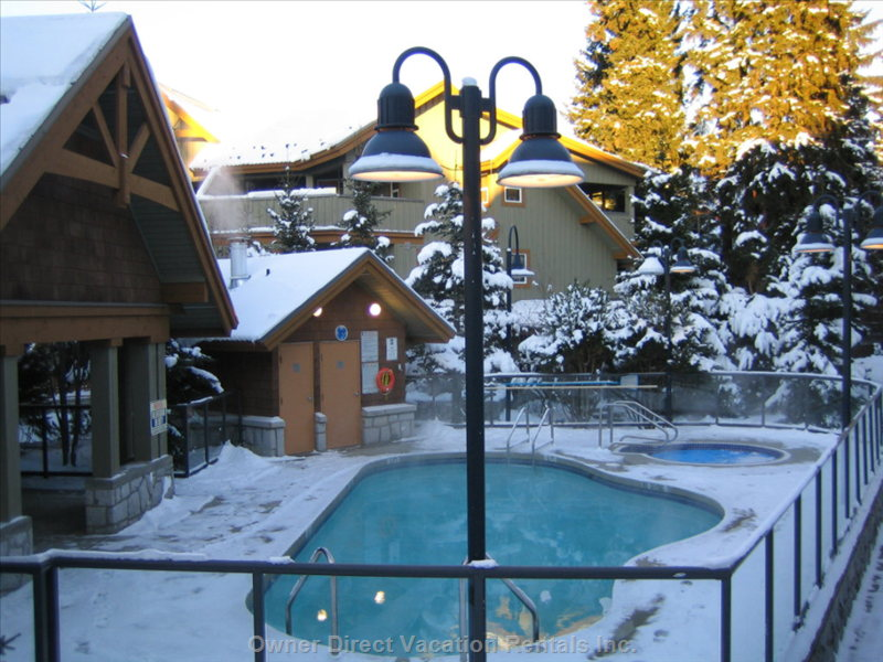 Heated Pool in Winter