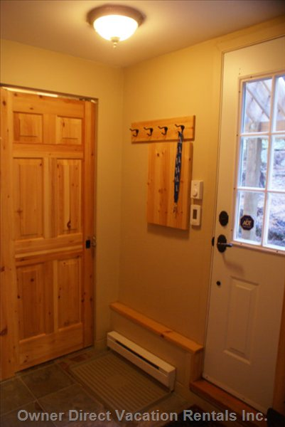 Mud Room with Storage for Skis