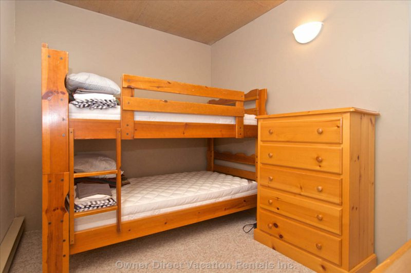 Guest Bedroom Twin Bunks. Kids Love them!