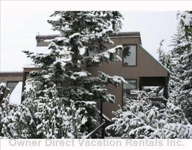 Outside View. Corner Two Story Townhouse Unit with Lots of Light and Large Deck