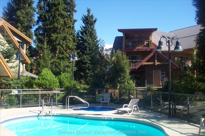 Glaciers Reach Pool - Enjoy a Heated Year round Pool, Hot Tub and Sauna at Glaciers Reach