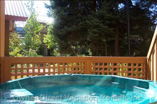 Relax in your Own Private Hot Tub with Views of the Inner Treed Court Yard