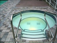 One of our Two Outside Hottubs